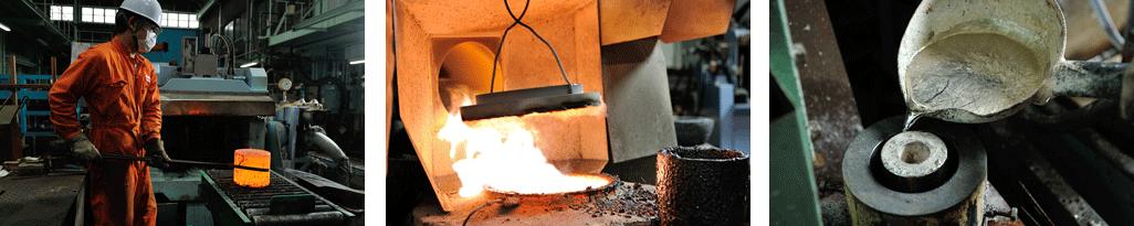 鋳造作業工程